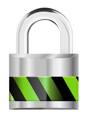 silver padlock security icon