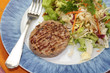 steak de veau et salade