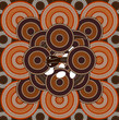 A illustration based on aboriginal style of dot painting depicti - 61664769