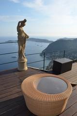 Terrasse avec vue sur la mer, Eze village