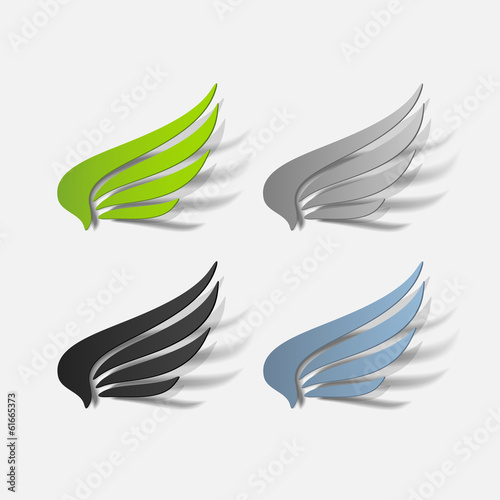 realistic design element: wing
