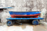 fishing boat on cart