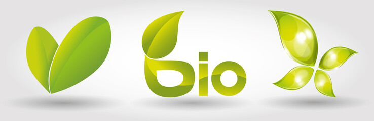 Ecology, green, bio, icons