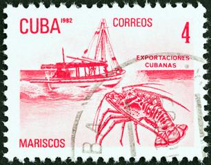 Cuban exports, lobster (Cuba 1982)