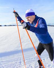 Spass beim Langlauf-Training