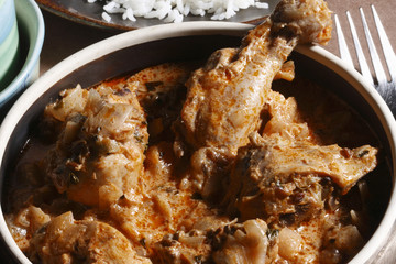 Handi Murg – Marinated chicken in fresh green spices