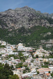 Positano Under Mountain on Amalfi Post