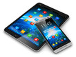 Leinwanddruck Bild - Tablet computer and smartphone