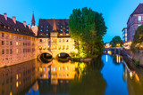 Evening scenery of Nuremberg, Germany