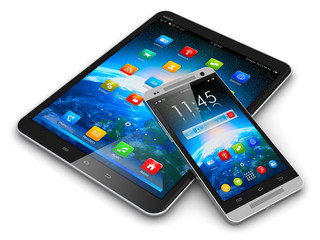 Tablet computer and smartphone