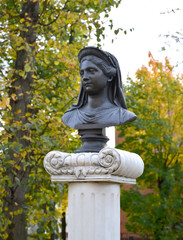 Bust of the queen Louise in the city of Zelenogradsk of the Kali