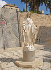 Blessed Virgin Mary's statue. Nazareth, Israel