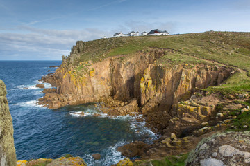View of Lands End Cornwall