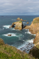 Lands End Cornwall England English tourist attraction