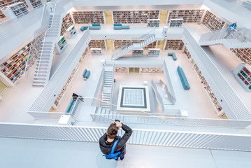 Photographer in Stuttgart library