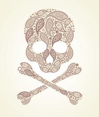 floral vector skull