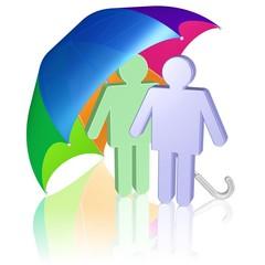 Zweisamkeit, Partnerschaft, gemeinsam Schutz suchen