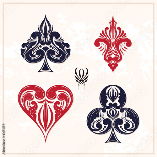 Ornamental Playing Card - 61671579