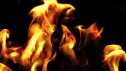 Beautiful Fire in Slow Motion, Looped. Close-up. HD 1080.