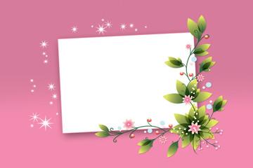 Стилизованный праздничный фон с цветами