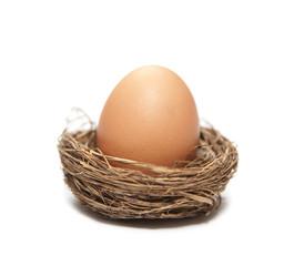 oeuf dans un nid