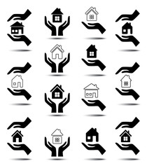 Collection of icons with houses