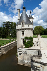 Castle of Chenonceau in the Loire Valley.