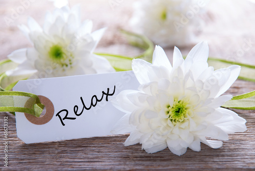 canvas print picture Tag with Relax
