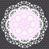 Background with Ornamental Round Lace Pattern