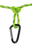 butterfly knot on a rope and carabiner