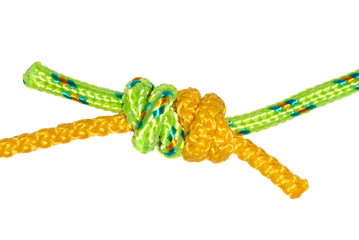 grapevine knot of two ropes