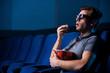 Watching three-dimensional movie.