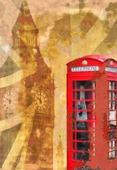 Shabby Chic London Collage