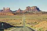 View of famous road to Monument Valley - 61674561