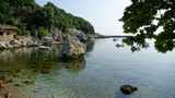 Greek scenic fishing village at Damouchari of Pelion in Greece