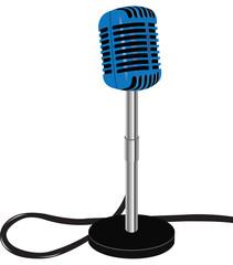 microfono azzurro