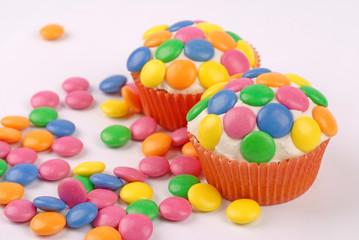 cupcake con smarties