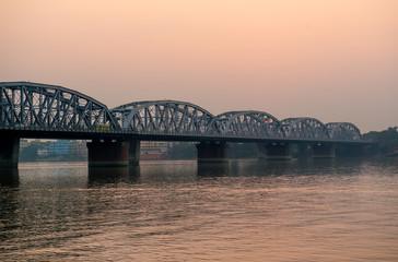 Bridge over Ganga at sunset