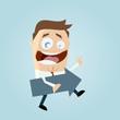 business mann pfeil richtung cartoon