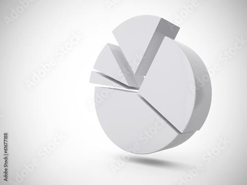 Tortendiagramm Weiß 2