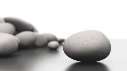 Steinhaufen Fokus Konzept