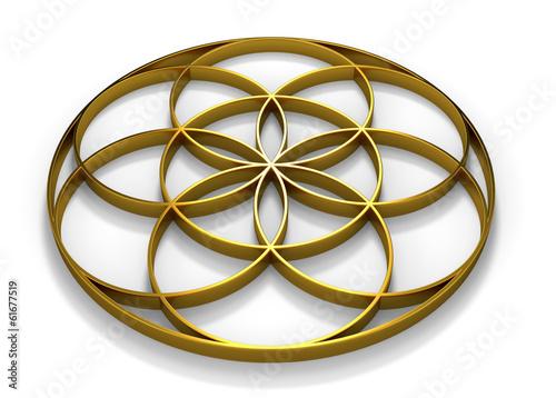 Saat des Lebens gold liegend 4