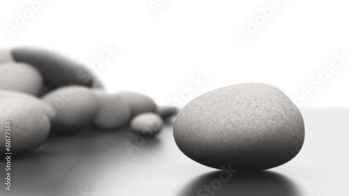 Foto op Canvas Zen Steinhaufen Fokus Konzept