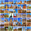 european landmarks collage