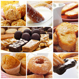 spanish pastries collage