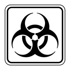 Logo biohazard. Danger biologique.