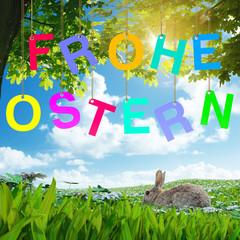 Frohe Ostern Karte