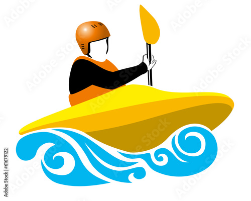 yellow boat in blue wave
