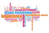 Impotence - conceptual word cloud