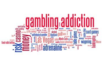 Gambling words - conceptual word cloud